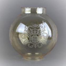 abat-jour-boule-tulipe-verre-ambre-grave-14-cm-diametre
