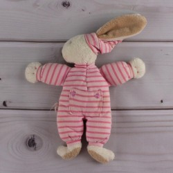 doudou-corolle-hochet-grelot-lapin-rayures-roses
