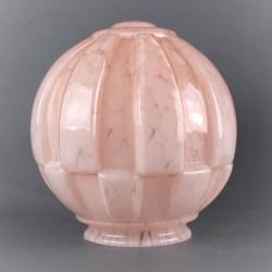 abat-jour-boule-verre-opaline-rose
