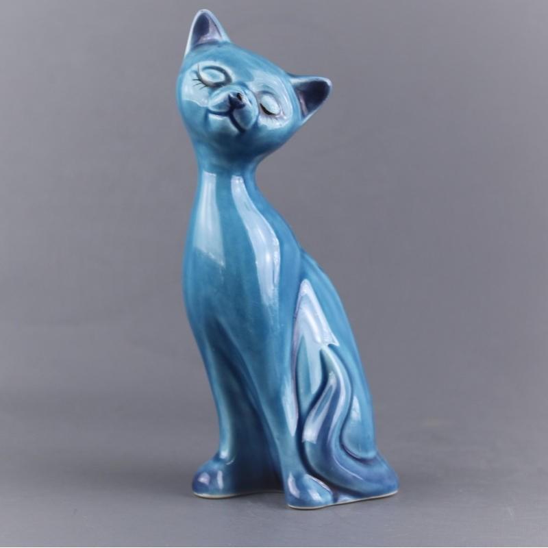 chat-bleu-ceramique-16-cm
