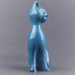 statuette-chat-bleu-ceramique-16-cm