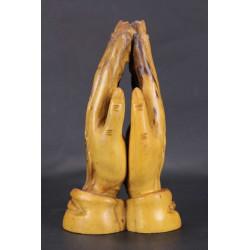 Mains Jointes en Prière Sculpture en Bois