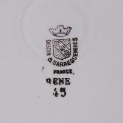 6 Assiettes Creuses Creil & Montereau