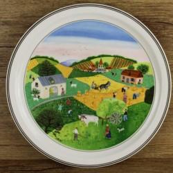 assiette-decorative-villeroy-et-boch-serie-les-quatres-saisons-l-ete