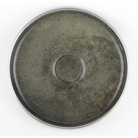 Assiette Plate en Faïence de Creil et Montereau