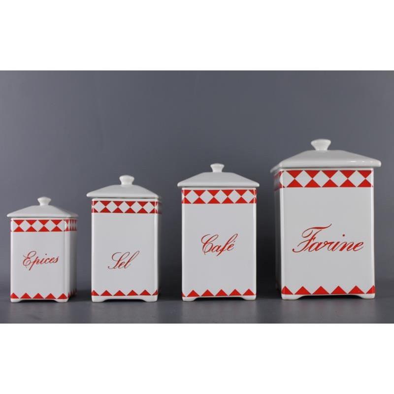Série de 4 Pots en Céramique
