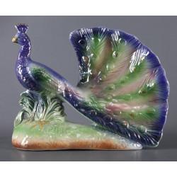 Paon Céramique Polychrome