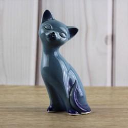 chat-bleu-ceramique-11-cm-vintage-estampillé