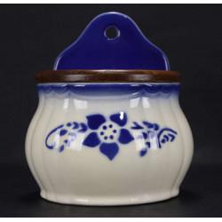 Ancienne Boite  à Sel  en  Faience   Pot en  Ceramique Lunéville France