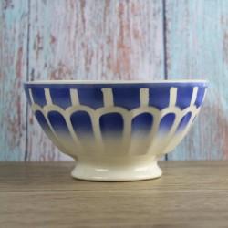 bol-ancien-Sarreguemines-vaisselle-vintage-facettes-bleu