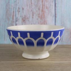 ancien-bol-Sarreguemines-vaisselle-vintage-facettes-bleu
