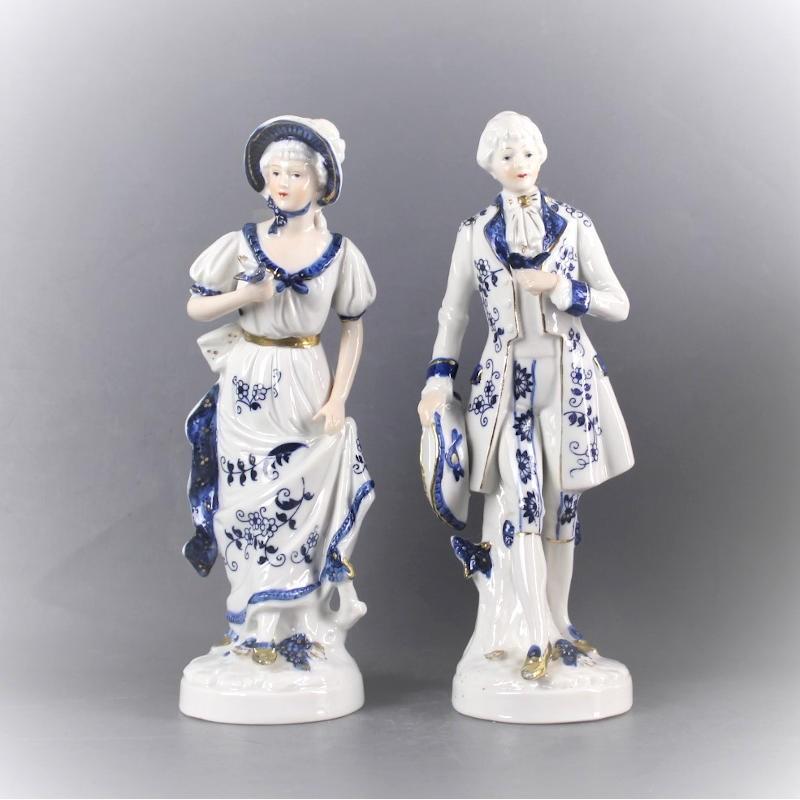statuette-couple-blanc-et-bleu-vintage