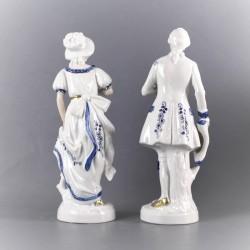 statuette-couple-porcelaine-de-chine-peint-à-la-main