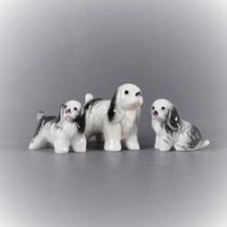 figurine-chien-cocker-en-céramique-lot-de-3