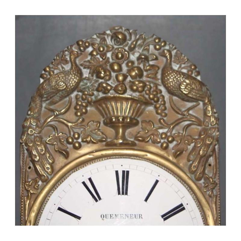Pediment-clock Grandfather- XIX éme