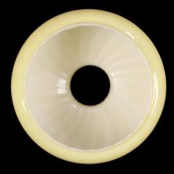 Abat-jour Globe Opaline Jaune d'Or