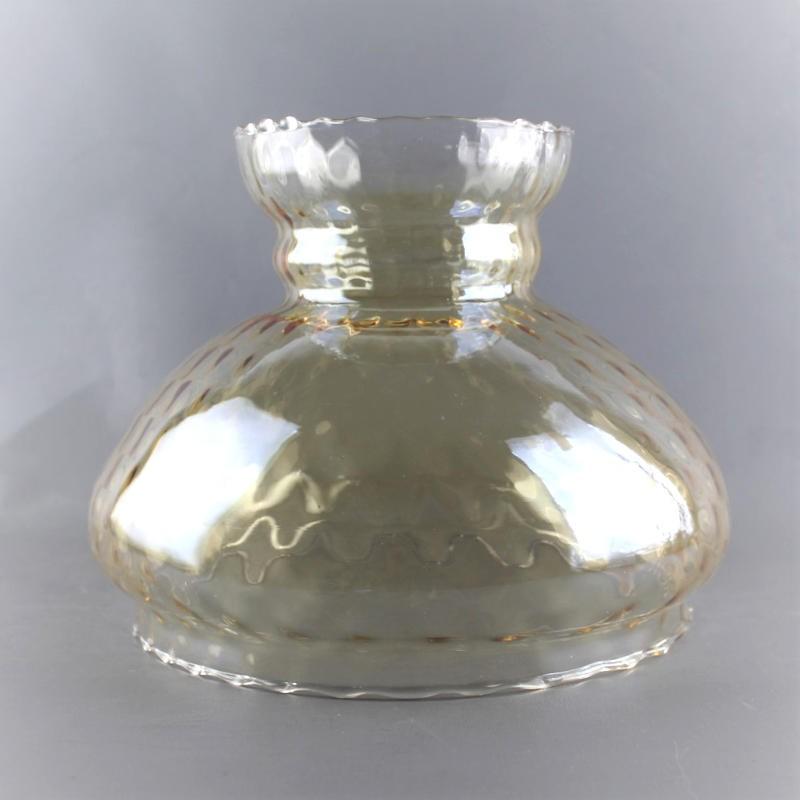 globe-abat-jour-verre-ambré-lampe-rétro