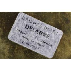 Sculpture Presse Papier en Bronze d'Art  Delabre