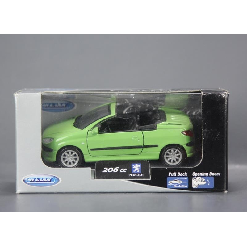 Peugeot 206 CC 1/38 Welly Collection