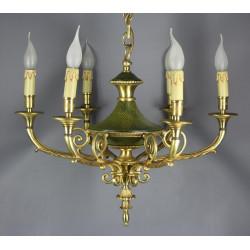 Lustre-en-Bronze-Style-Empire-Six-Bras-de-Lumière