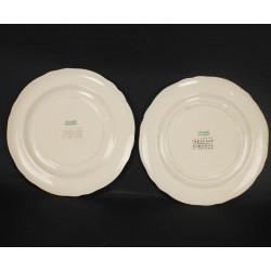 2 Assiettes en Porcelaine Cristofle