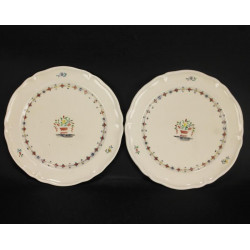 2 Assiettes en Porcelaine Cristofle