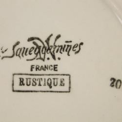 Assiette Plate Sarreguemines