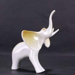 Figurine Porcelaine Hollóháza Hungary Éléphant