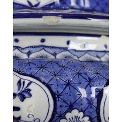 Soupière Céramique d'Italie, décor Bleu et Blanc