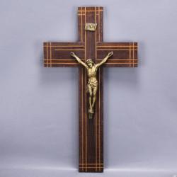 crucifix-ancien-bois-metal-mural