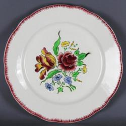 Cafetière émaillée décor floral ancienne