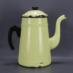 ancienne-cafetiere-emaillee-jaune