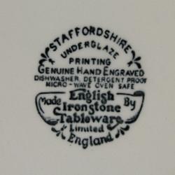 6 Assiettes Creuses Staffordshire