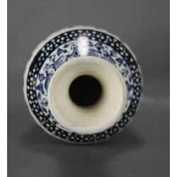 Vase Boch Royal Sphynx Bleu et Blanc