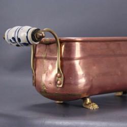 Vase en laiton avec anses