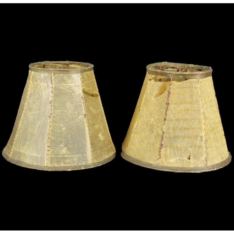 Abat jour ancien lot de 2 pour lampe ou lustre
