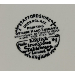 Assiette Creuse Staffordshire