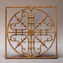 Grille-en-fer-forge-art-déco-décorative-ancienne