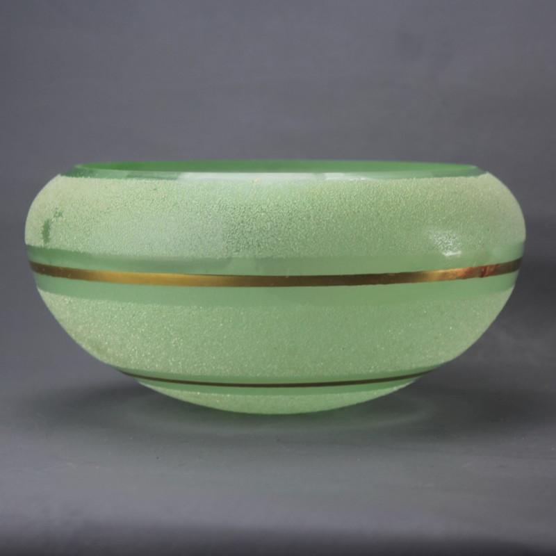 coupelle-vert-et-or-pour-lustre-en-verre-art-deco