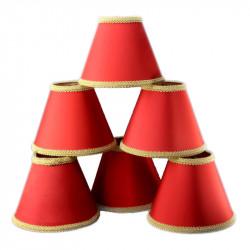 abat-jour-a-pinces-tissu-enduit-rouge-lot-de-6