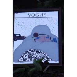 Miroir Vogue  Art Déco Cadre en Bois