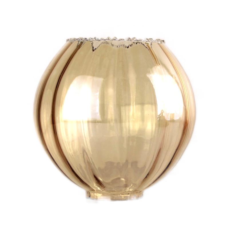 abat-jour-tulipe-verre-ambre-lustre-vintage