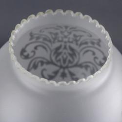 Globe opaline blanche 29 cm diamètre base