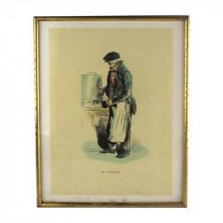 """Gravure Les français peints par eux-mêmes """" Le Cafetier"""""""