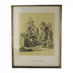 dessin-du-19eme-buveurs-de-cafe-a-vienne