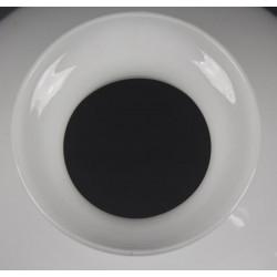 Grand Abat-Jour en Opaline Godronnée 28 cm Pour Lampe à Pétrole