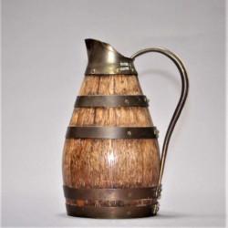 Pichet-à-cidre-ou-vin-en-bois-et-laiton-ancien-Gérard-Lafitte