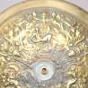 Globe opaline abat-jour blanc 12,5 cm diamètre base lustre lampe