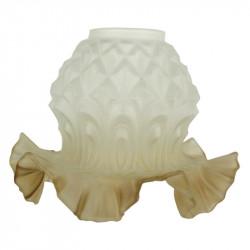 Globe opaline blanche 12,5 cm diamètre base lustre lampe