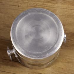 Abat-jour boule verre ambré 12 cm diamètre